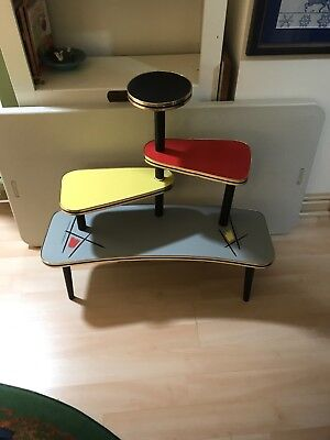 Mid Century Modern Table Plant Display Stand Atomic German