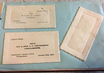 Antique Scrapbook Wedding Invitations Calling Cards Autograph Book 1920s 1930s