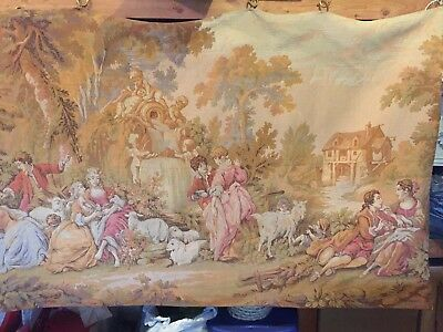 Antique Circa 1890 4'x6' French Tapestry