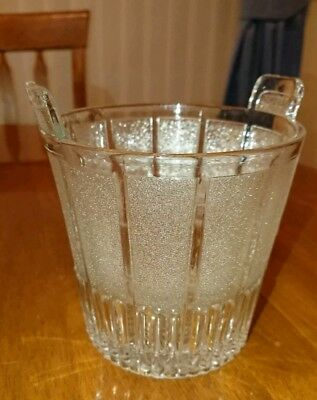 Antique Sowerby Glass Ice Pail. With Registration Diamond. 1840-1900. Lovely!