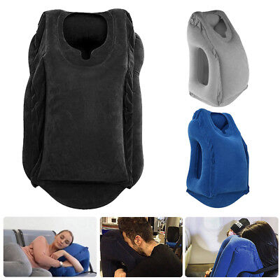 Inflatable Air Cushion Travel Pillow Head Neck Sleep Support Camping Flight