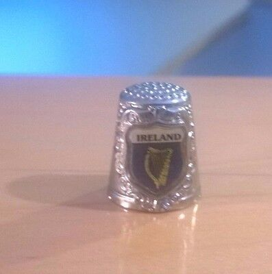 Silver Thimble with Ireland Country Logo