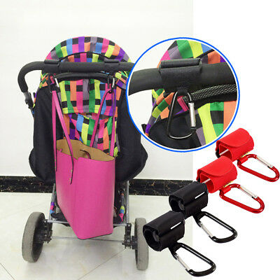 Universal Mummy Buggy Clips Pushchair Shopping Bag Pram Stroller Hooks Holder