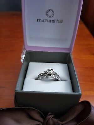 10K Solid White GOLD DRESS / ENGAGEMENT RING WITH 0.70CARAT Diamond Michael hill