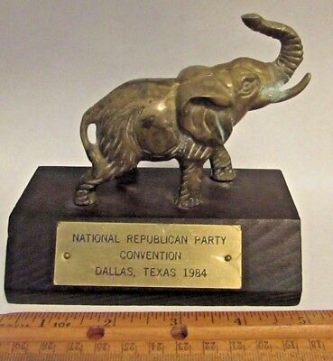 1984 ELEPHANT PAPERWEIGHT Desk NATIONAL REPUBLICAN PARTY CONVENTION DALLAS TEXAS