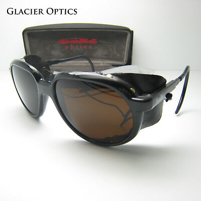 Bolle Crevasse Glacier Sunglasses Climbing Mountaineering Shields Skiing Leather