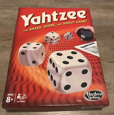 Yahtzee Classic Board Game Cup Die and score sheets, lightly used family fun