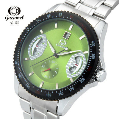 GUCAMEL Mens Mechanical Luxury Automatic Hollow Date Male Business Wristwatches