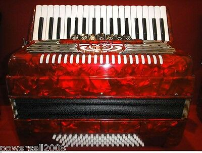 Professional Performance 37 Key 80 Bass Red Musical Instruments Accordion