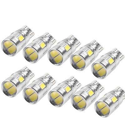 10pcs T10 501 194 W5W 5630 LED Canbus SMD HID Non-Error Light Bulb Lamps For Car