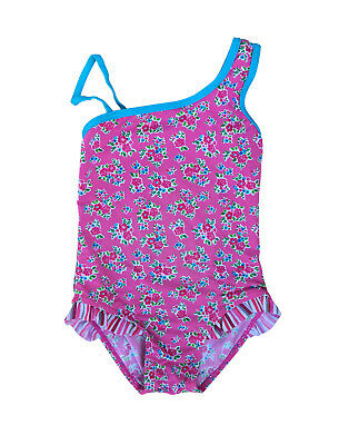 Baby Kids Girls Lycra Pink Floral One-Piece Swim Suit 4 Years