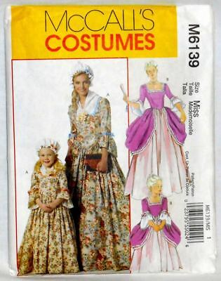 McCALL'S PATTERN M6139 AMERICAN COLONIAL DRESS SML TO XL (8-22) (New Pattern)