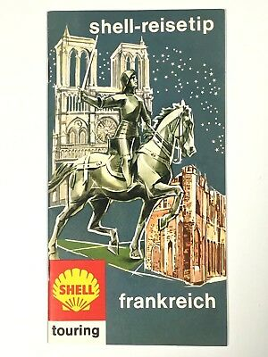 Vintage 1963 SHELL Touring Frankreich (France) Travel Tips Booklet in German
