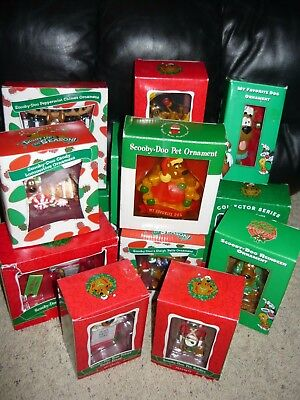 Huge Lot Warner Bros Studio Store Scooby Doo Christmas Ornaments Collection
