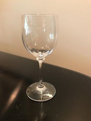 set of 4 Mikasa STEPHANIE Crystal Wine Glasses w/ Sticker