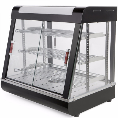 """27"""" Commercial Food Heating Display Warmer Cabinet Show Case"""