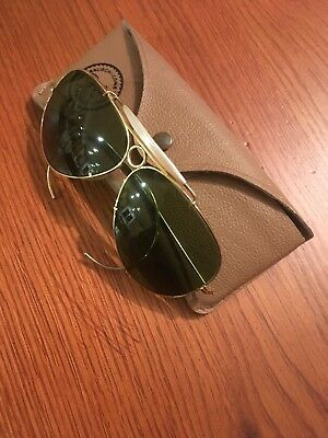 A vintage pair of Aviator Ray Ban glasses.