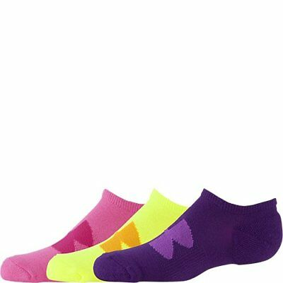 *Under Armour Girls Pulse Solo Socks (3 Pair) Bright Multi-color, SIZE Youth LG