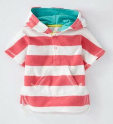 Baby Boden 'Towelling' Poncho in PINK STRIPED (3-6) $42.50+