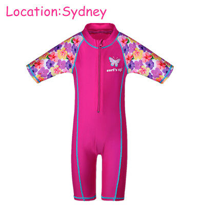 3-10Y Kids Girls Swimming Swimsuit One-Piece Swimmer Swimwear Flower Swimmable