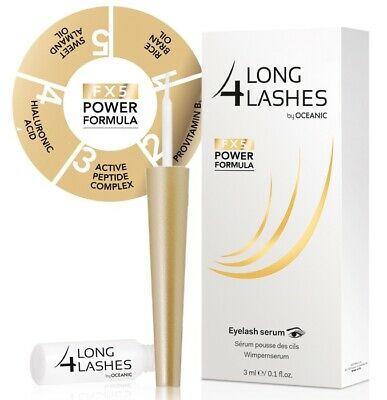 NEW Long 4 Lashes FX5 POWER FORMULA Eyelash GROWTH Enhancing Serum 3ml