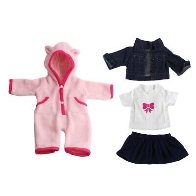 2suit Jeans Shirt Dress Clothes for 18inch American Girl Doll Outfit Pajamas