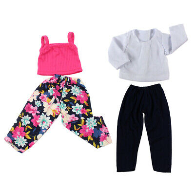 2suit Clothes for 18'' American Girl Dolls Shirt Trousers Pajamas Outfits
