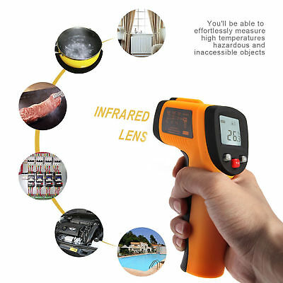 Infrared IR Laser Thermometer Non-contact Digital LCD Temperature Gun NEW