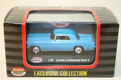HO Scale 1:87 Model Power Lincoln Continental Mark 2 Blue