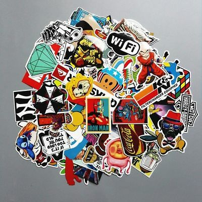 100/300pcs Stickers Skateboard Vintage Vinyl Sticker Laptop Luggage Car Decals