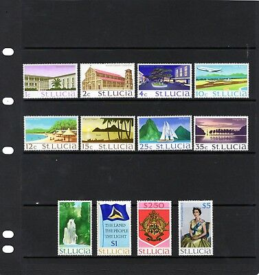 ST LUCIA 1970 various Defins , values to $2.50 & $5 MINT NH