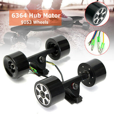 6364 90mm Dual Hub Electric Skateboard Longboard Motors Drive Parts Brushless AU