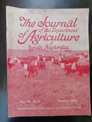 Old South Australian Agriculture Farming Journal December 1952