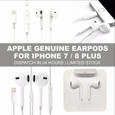 iphone 7 8 Plus Original Earpods Earphones for Apple Genuine iPhone 7 8 X Lot