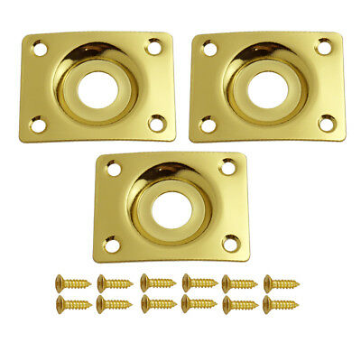 Input Output Jack Plate for Electric Guitar Telecaster LP SG Gold Rectangle