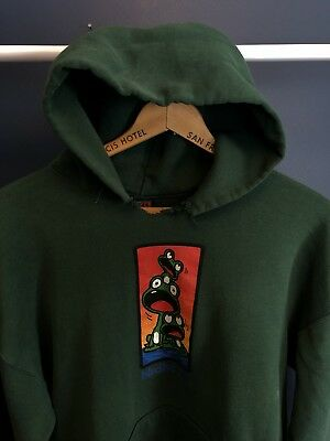 Vintage 90's Birdhouse Skateboards Hoodie Made In The USA Hook Ups