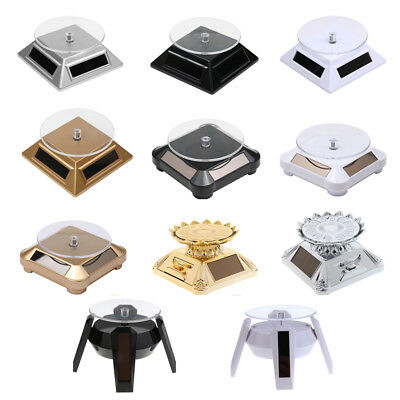 Solar Energy Powered Rotating Rotary Turntable Phone Watch Jewelry Display Stand