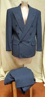 1980S Vintage MONSIEUR GIVENCHY Mens 2PC Double Breasted SUIT