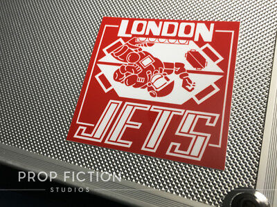 Red dwarf prop london jets zero g case sticker spaceship set decal