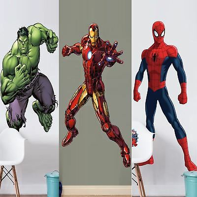 Extra Large Marvel Avengers Life Size Wall Art Big Mural Wallpaper Sticker Decal