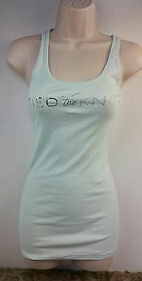 Victoria's Secret I Do Size M Medium Aqua Tank Top Shirt Tied The Knot Bride cz