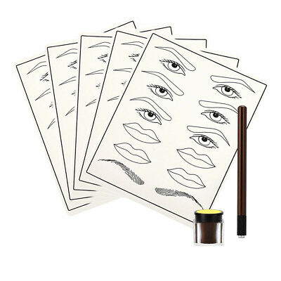 Eyebrow Liner Lip Practice Skin Microblading Kit Tattoo Permanent Makeup Set