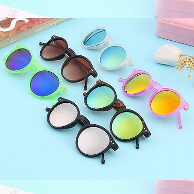 Unisex Women Men Mirror lens Round Glasses Steampunk Sunglasses Vintage Retro MX