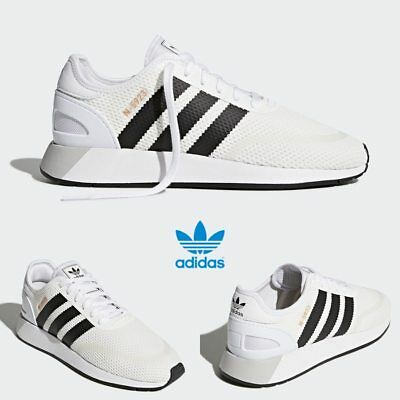 new arrivals 87939 bbb69 Adidas Original Iniki Runner N-5923 Shoes Running White Black AH2159 SZ 4-11