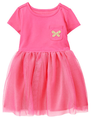 NWT Gymboree UNICORN UNIVERSITY Pink Metallic GOLD Butterfly Tulle Dress NEW