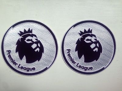 NEW 2017/18 Premier League Adult Size Shirt Sleeve Patches SET OF 2 (UK)