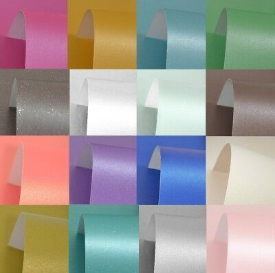 A4 Pearlescent Shimmer Card 300Gm High Quality Over 50 Colours To Choose From