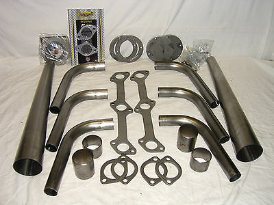 Lake Style Headers f. FLATHEAD Ford , Ratrod, Hotrod,Custom
