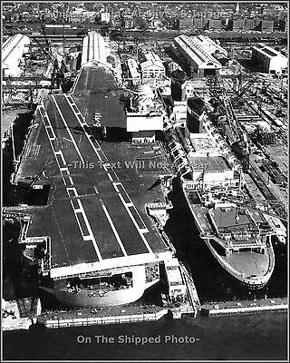 Photo: SS United States & Aircraft Carrier USS Enterprise - Newport News, 1967