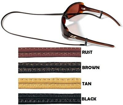 "CROAKIES Sewn Leather Sunglass Eyewear Cord Strap Retainer w/ Spec Ends 24"" Long"
